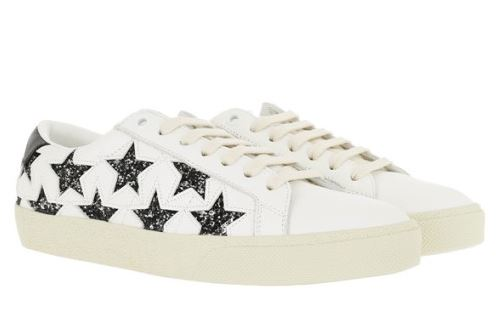 입생로랑 가죽 화이트 스니커즈 Saint Laurent Stars Motif Sneakers Leather White