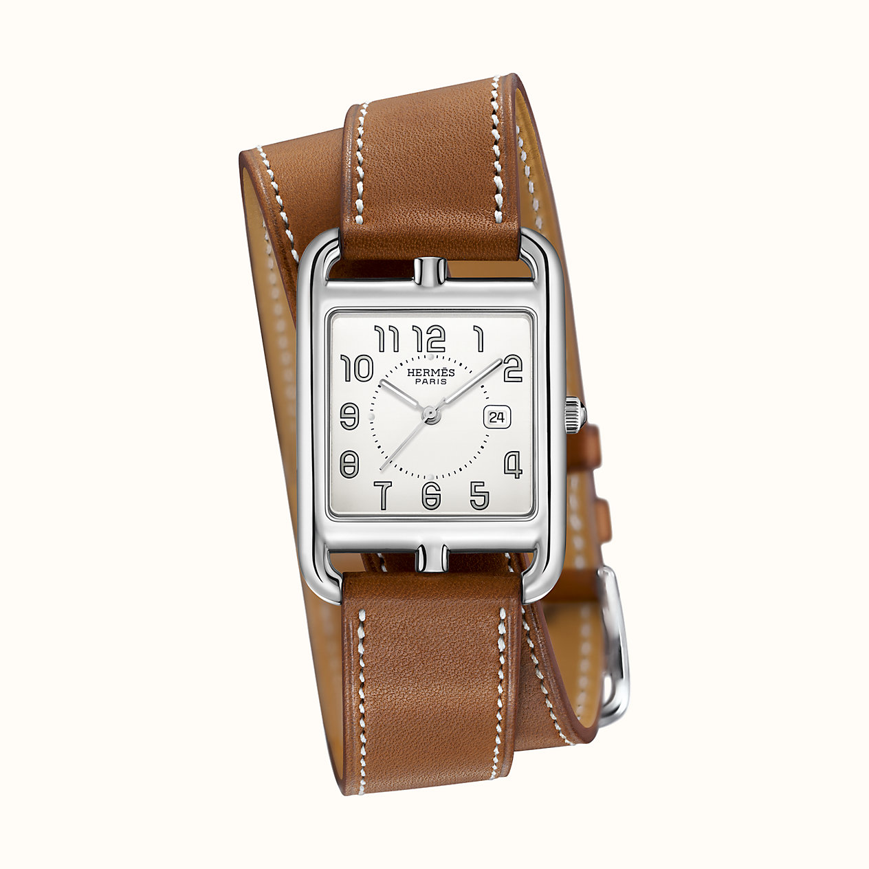 에르메스 케이프 Cape Cod watch, 29 x 29 mm W043669WW00