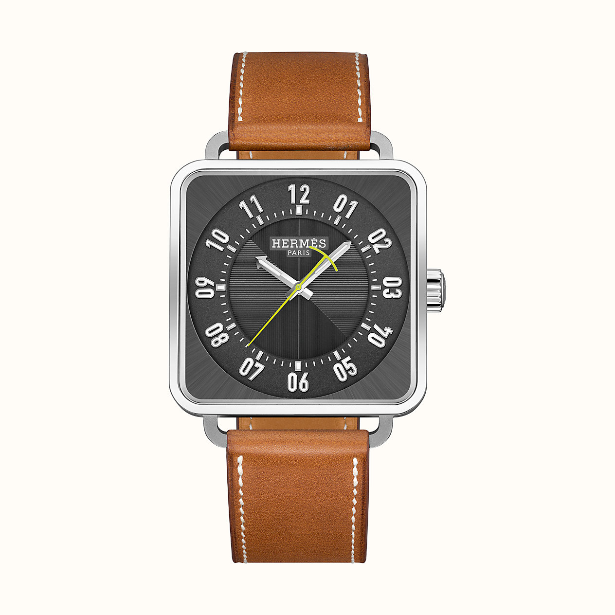 에르메스 Carre H watch, 38 x 38 mm W045778WW00